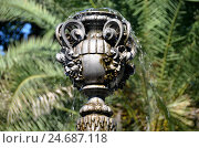 Купить «Фонтан в парке Дендрарий, Сочи, Россия», фото № 24687118, снято 23 сентября 2014 г. (c) Александр Карпенко / Фотобанк Лори