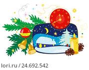 Купить «Рождество, Новый год, открытка», иллюстрация № 24692542 (c) Neta / Фотобанк Лори