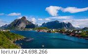 Купить «Lofoten archipelago», видеоролик № 24698266, снято 9 декабря 2016 г. (c) Андрей Армягов / Фотобанк Лори