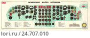 Купить «Плакат: Приборная доска летчиков самолета Ил-76», иллюстрация № 24707010 (c) Артем Сеттаров / Фотобанк Лори