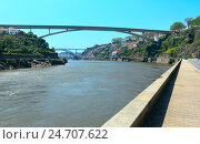 Купить «Bridges in Porto, Portugal.», фото № 24707622, снято 15 мая 2016 г. (c) Юрий Брыкайло / Фотобанк Лори