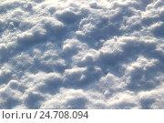 Неровная текстура снега. Стоковое фото, фотограф Гузель Гарипова / Фотобанк Лори