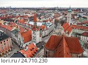 Купить «Крыши Мюнхена», фото № 24710230, снято 9 января 2011 г. (c) Юлия Бабкина / Фотобанк Лори