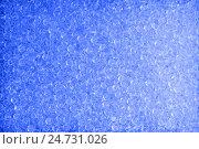 Голубой морозный бисерный фон. Стоковое фото, фотограф Владимир Булгаков / Фотобанк Лори