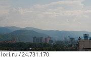 Купить «Summer Sun City Sunset Mountain Cityscape», видеоролик № 24731170, снято 14 ноября 2016 г. (c) Илья Насакиин / Фотобанк Лори
