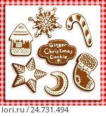 Купить «Рождественские имбирные пряники», иллюстрация № 24731494 (c) Aqua / Фотобанк Лори