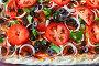 Сырая пицца с начинкой до запекания, вид сверху, фото № 24744294, снято 17 января 2017 г. (c) Юлия Зайцева / Фотобанк Лори