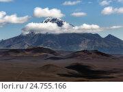 Камчатский вулканический пейзаж: вулкан Большая Удина (2014 год). Стоковое фото, фотограф А. А. Пирагис / Фотобанк Лори