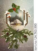 С Рождеством! Стоковое фото, фотограф Маргарита Нижарадзе / Фотобанк Лори
