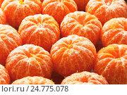 Очищенные мандарины. Стоковое фото, фотограф Виталий Федоров / Фотобанк Лори