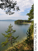 Купить «Южно-уральское озеро Тургояк», фото № 24794474, снято 13 августа 2016 г. (c) Александр Тараканов / Фотобанк Лори