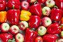 Красный перец и яблоки, фото № 24798626, снято 3 мая 2016 г. (c) Олег Шкуратов / Фотобанк Лори