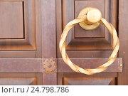 Купить «Дверная ручка в виде кольца», фото № 24798786, снято 7 августа 2013 г. (c) Slasha / Фотобанк Лори