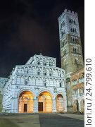 Lucca city night view. (2015 год). Стоковое фото, фотограф Юрий Брыкайло / Фотобанк Лори