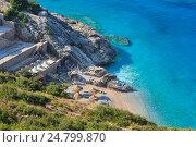 Купить «Summer Ionian sea coast, Albania.», фото № 24799870, снято 12 июля 2016 г. (c) Юрий Брыкайло / Фотобанк Лори