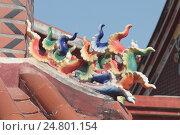 Элемент декора храма Гуаньинь на окраине города Сямэнь, Фуцзянь, Китай. Стоковое фото, фотограф Vladislav Osipov / Фотобанк Лори
