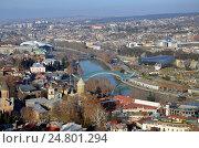 Тбилиси, Грузия. Вид на город с крепости Нарикала (2016 год). Стоковое фото, фотограф Светлана Колобова / Фотобанк Лори