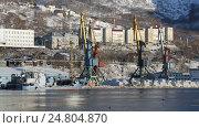 Петропавловск-Камчатский морской торговый порт, видеоролик № 24804870, снято 31 декабря 2016 г. (c) А. А. Пирагис / Фотобанк Лори