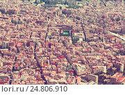 Купить «Sants-Montjuic residential district from helicopter. Barcelona», фото № 24806910, снято 1 августа 2014 г. (c) Яков Филимонов / Фотобанк Лори