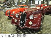 Купить «Alfa Romeo 8C 2300 Mille Miglia. 1934-39. Экспонат музея техники Вадима Задорожного в Архангельском. Подмосковье», фото № 24806954, снято 28 сентября 2016 г. (c) Владимир Кошарев / Фотобанк Лори