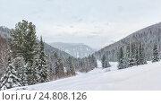 Зимняя дорога. Стоковое фото, фотограф Valeriy Ryasnyanskiy / Фотобанк Лори