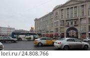Купить «Москва, панорама Славянской площади слева на право», эксклюзивный видеоролик № 24808766, снято 3 января 2017 г. (c) Дмитрий Неумоин / Фотобанк Лори