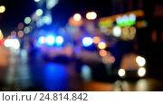 Купить «Полицейские машины на дороге с мигающими проблесковыми маячками», видеоролик № 24814842, снято 28 декабря 2016 г. (c) FMRU / Фотобанк Лори