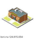 Изометрический значок здания. Стоковая иллюстрация, иллюстратор Алексей Плескач / Фотобанк Лори