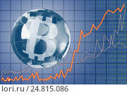 The concept of e-commerce growth rate. Cryptocurrency Bitcoin. Стоковое фото, фотограф Александр Якимов / Фотобанк Лори