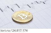 Купить «Криптовалюта bitcoin», фото № 24817174, снято 4 января 2017 г. (c) Александр Лычагин / Фотобанк Лори