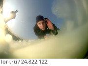 Купить «Погружение под лед Черного моря на побережье Одессы», фото № 24822122, снято 20 февраля 2012 г. (c) Некрасов Андрей / Фотобанк Лори