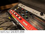 Купить «music mixing console at sound recording studio», фото № 24831094, снято 18 августа 2016 г. (c) Syda Productions / Фотобанк Лори