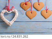 Купить «Valentine's day background with hearts», фото № 24831262, снято 7 января 2017 г. (c) Майя Крученкова / Фотобанк Лори