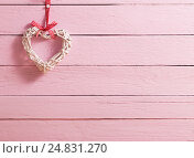 Купить «Valentine's day background with hearts», фото № 24831270, снято 7 января 2017 г. (c) Майя Крученкова / Фотобанк Лори