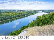 Вид на реку Дон в Воронежской области (2015 год). Стоковое фото, фотограф Иван Коцкий / Фотобанк Лори