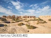 Руины крепости Кызыл-Кала на территории современного Узбекистана, фото № 24833402, снято 21 октября 2016 г. (c) Юлия Бабкина / Фотобанк Лори