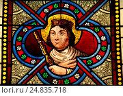 Купить «Portrait of Sainte Adelaïde (931-999) in church of Givardon (Cher)», фото № 24835718, снято 22 августа 2011 г. (c) age Fotostock / Фотобанк Лори