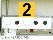 Купить «Биатлон. Мишень спортивная для стрельбы», фото № 24836746, снято 26 февраля 2014 г. (c) Сергеев Валерий / Фотобанк Лори