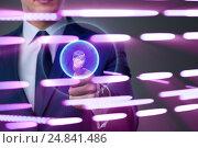 Купить «Biometric identification concept with fingerprints», фото № 24841486, снято 20 апреля 2019 г. (c) Elnur / Фотобанк Лори