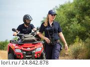 Купить «Tudora, Republic of Moldova, Border police Politia de Frontiera at the green border», фото № 24842878, снято 30 августа 2016 г. (c) Caro Photoagency / Фотобанк Лори
