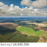 Купить «Нижегородская область, вид сверху», фото № 24845506, снято 23 июля 2013 г. (c) Владимир Мельников / Фотобанк Лори