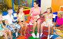 Купить «Kids sitting around teacher with small guitar», фото № 24847318, снято 24 июня 2019 г. (c) Яков Филимонов / Фотобанк Лори