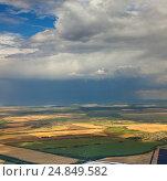 Купить «Вид сверху на сельские поля Чувашии», фото № 24849582, снято 23 июля 2013 г. (c) Владимир Мельников / Фотобанк Лори