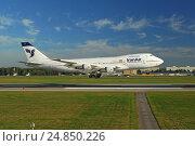 """Купить «Посадка """"Боинга 747"""" в Шереметьеве», фото № 24850226, снято 24 августа 2011 г. (c) Air Nemo / Фотобанк Лори"""