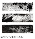 Купить «Set of black stenciled stripes», иллюстрация № 24851266 (c) Роман Сигаев / Фотобанк Лори