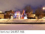 Набережная реки Пряжки. Санкт-Петербург (2017 год). Редакционное фото, фотограф Анна Зеленская / Фотобанк Лори