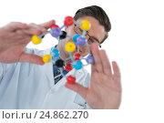 Купить «Scientist experimenting molecule structure», фото № 24862270, снято 18 августа 2016 г. (c) Wavebreak Media / Фотобанк Лори