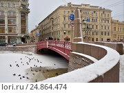 Купить «Санкт-Петербург. Красный мост», эксклюзивное фото № 24864474, снято 14 января 2017 г. (c) Александр Алексеев / Фотобанк Лори