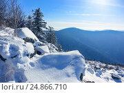 Зимний пейзаж. Вершина горы Литовка (Фалаза), Приморский край. Стоковое фото, фотограф Римма Тельнова / Фотобанк Лори