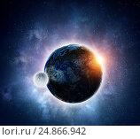 Купить «Our unique universe . Mixed media», иллюстрация № 24866942 (c) Sergey Nivens / Фотобанк Лори